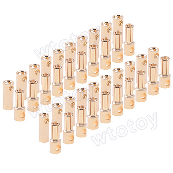 20 Pairs 5.5mm Bullet Banana Connector Plug RC Pil Motor ESC RC FPV Quadcopter