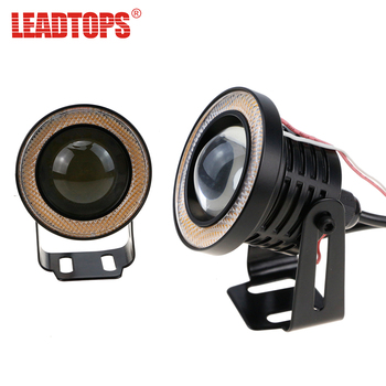 LEADTOPS AUTO LEDs COB Angel Eyes Fog Light And Daytime Running Lights Car DRL Any Car 12v For Audi a4/Kia rio/Bmw e39/Ford BH